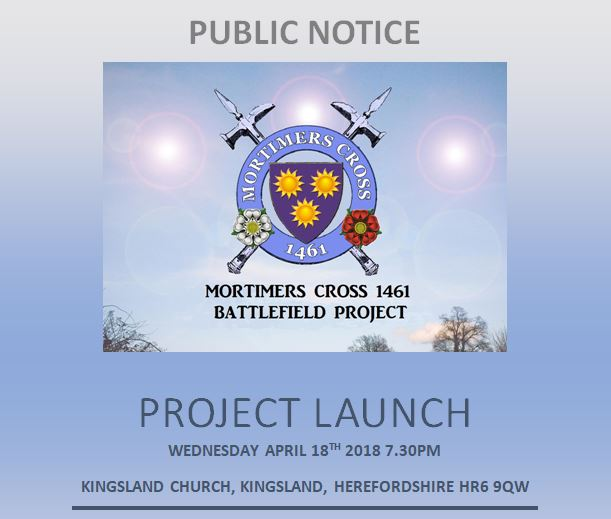 Mortimer's Cross 1461 Battlefield project - Project Launch @ Kingsland Church | Kingsland | England | United Kingdom